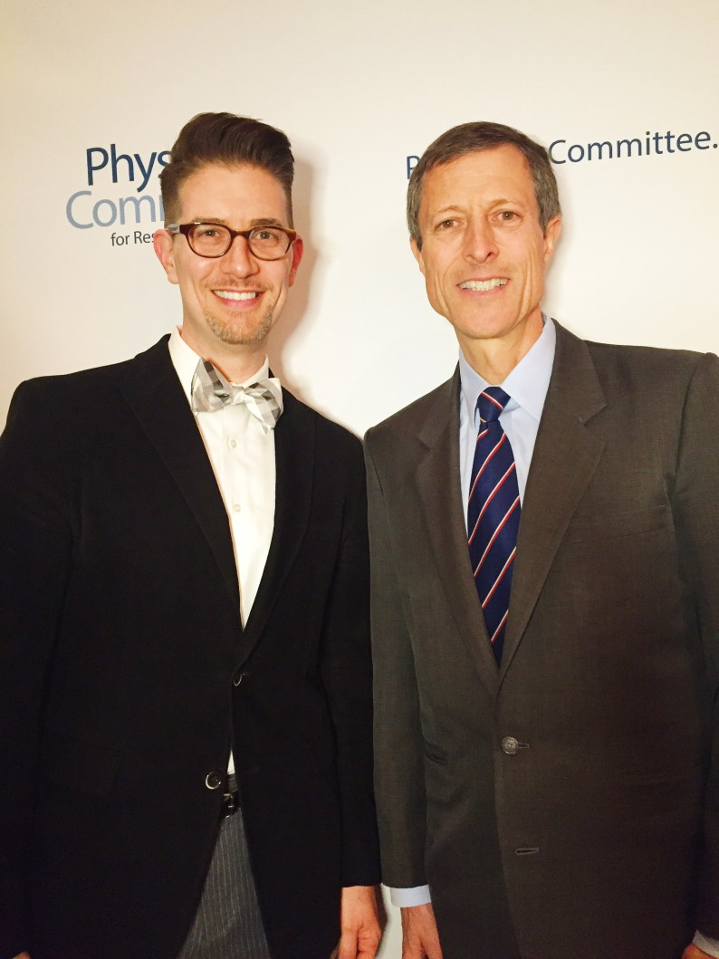 With Dr. Neal Barnard at The Physician's Committee for Responsible Medicine's Leadership Summit in Washington, D.C.
