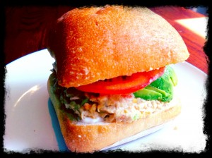 I love eating this Tu-NO Salad on a fresh Ciabatta roll with tomato and avocado. The perfect combo!